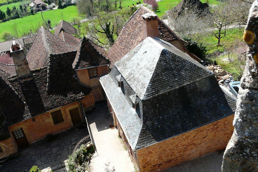 Maison vue du chateau