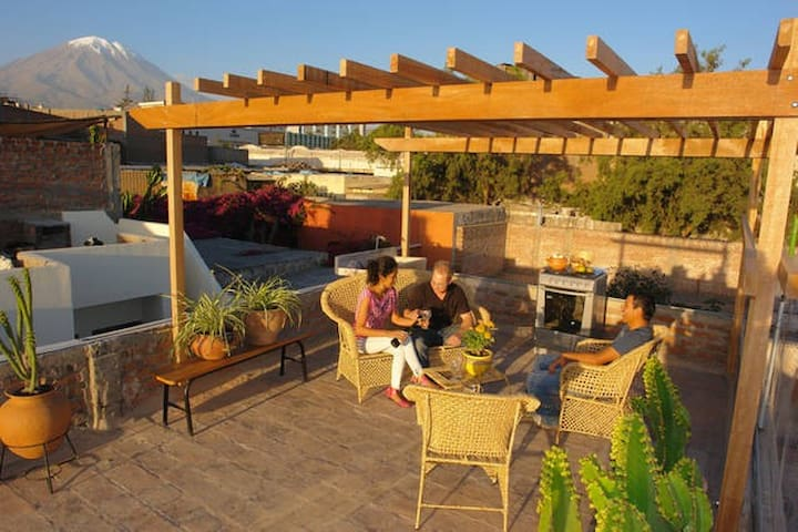Amazing terrace & views-Arequipa 2R - Arequipa - House