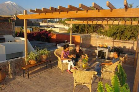 Amazing terrace & views-Arequipa 2R
