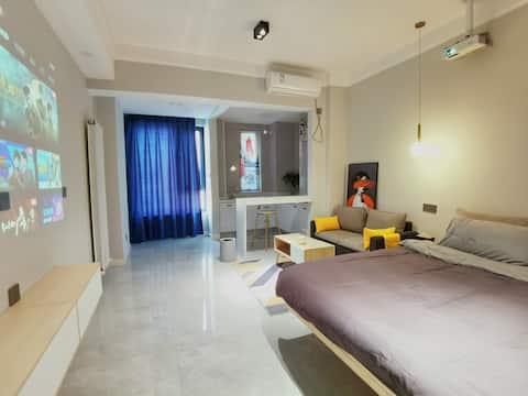 【St.Regis•瑞吉公寓•湉】建业壹号城邦/投影大床房/近摩根360商圈