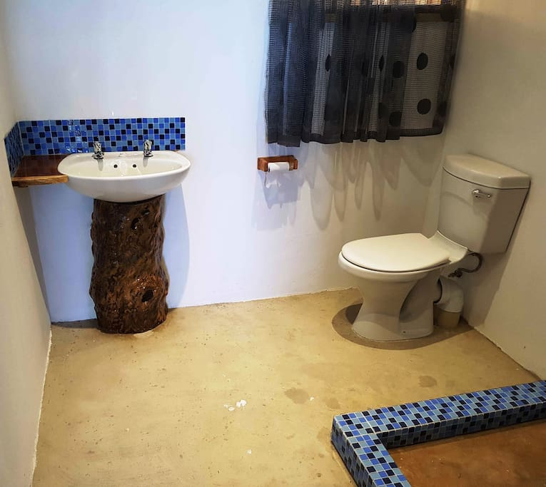 Shower with Toilet & Basin