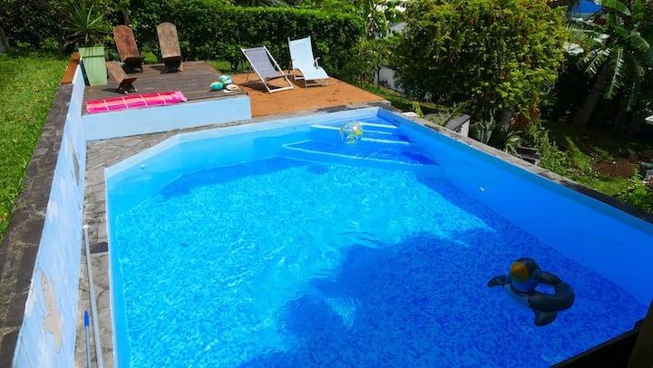 duplex bungalow swimming pool North Reunion