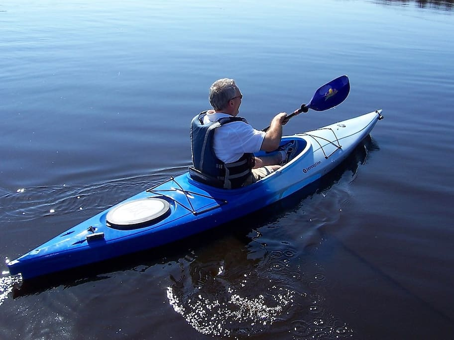 We have 2 kayaks and life vests for our guests to use and enjoy the lake.