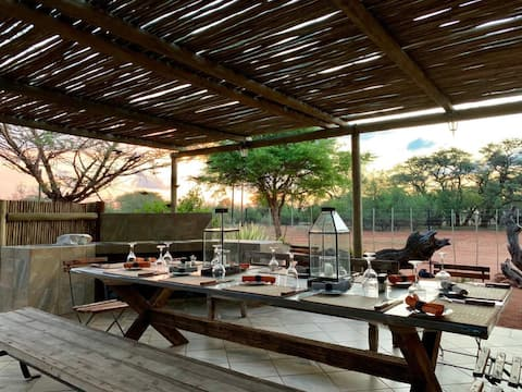 An oasis in the bush, land of the marula tree