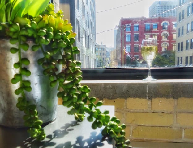 One of our favorite views (the street, not the wine!)