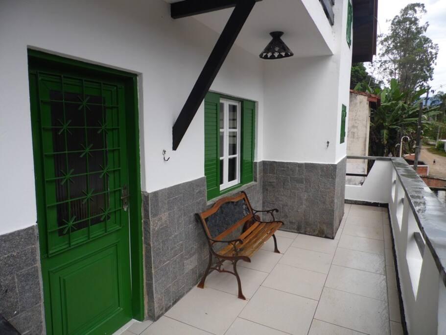 entrada do chalé
