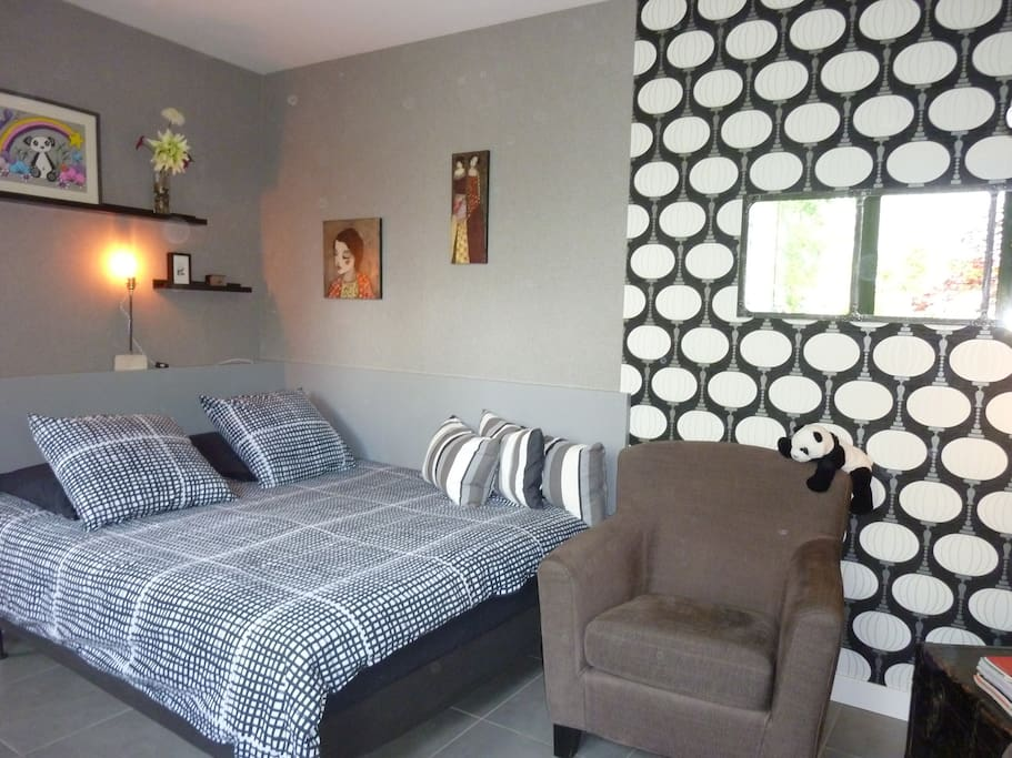 le logis du panda a dijon france guest houses louer dijon bourgogne france. Black Bedroom Furniture Sets. Home Design Ideas