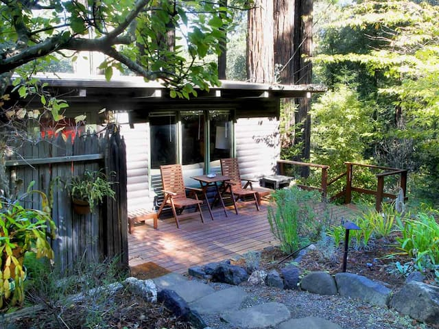 TREETOP LOG CABIN: Redwoods | Hot Tub | Woodstove - Guerneville - Casa