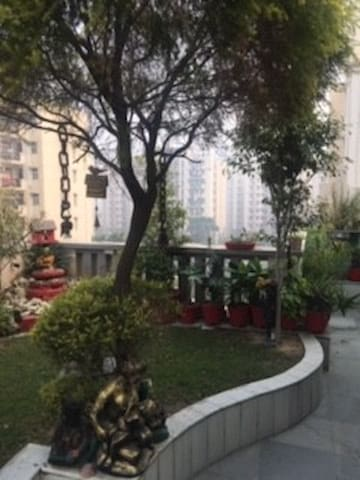 Spacious  room with  balcony and terrace garden