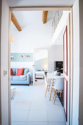 Appartement coup de coeur situé à 15min des plages