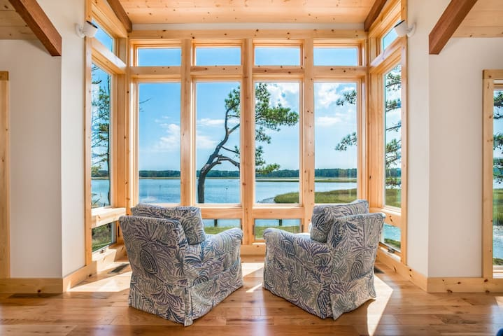 Stoney Point - A magnificent Waterfront Retreat with breathtaking views of Asstateague Channel & Lighthouse.