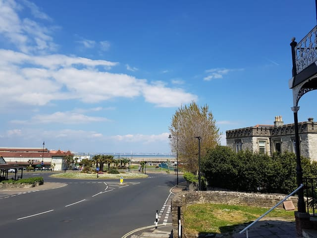View of the Sea (across the road) from the Front of the Property