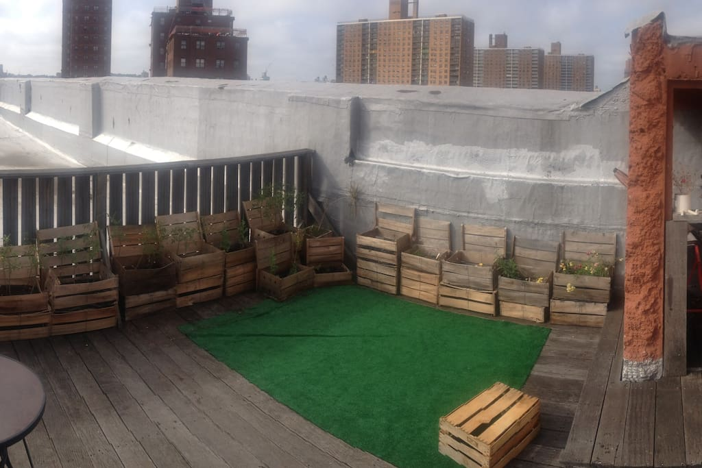 View of our private deck