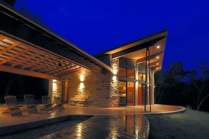 Secluded Modern Creekside Hill Country Gem!!!