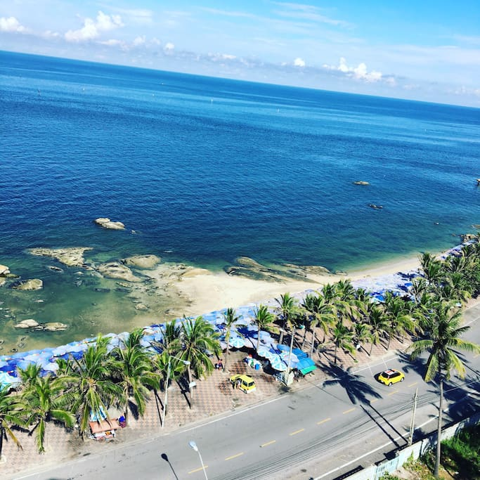 Panoramic sea view from room balcony