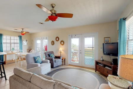 Dog-friendly, waterfront home w/ panoramic deck - steps from ocean