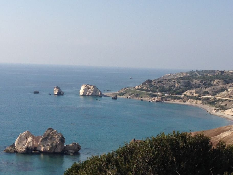 Aphrodite's Rock 5 min drive away