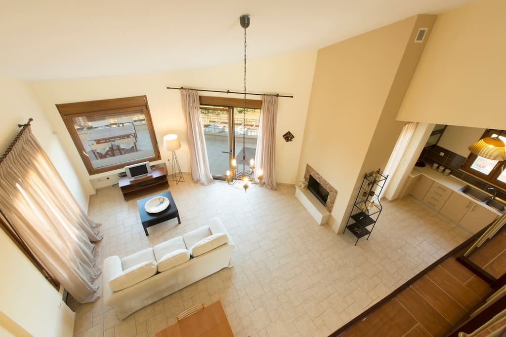 Overview of the living room area