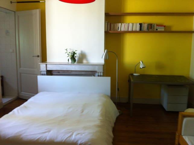 Chambre lit double et douche privée - Bordeaux - House