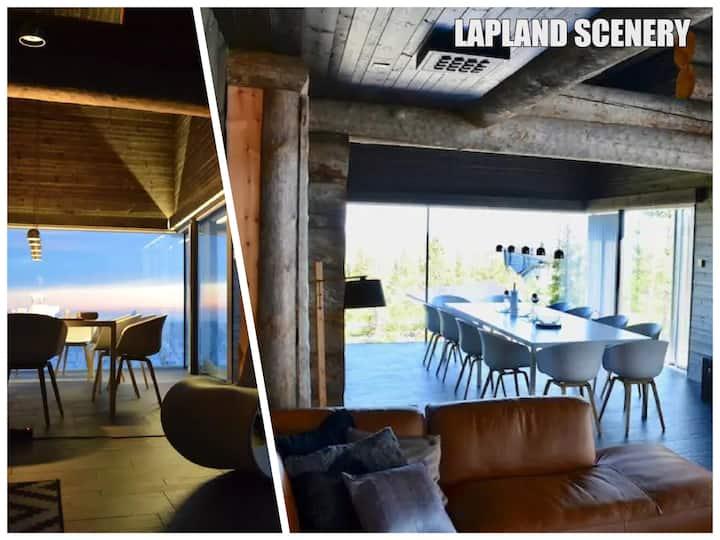 Villa Sky beautiful Lapland scenery.