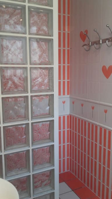 salle de douche/WC attenante à la grande chambre