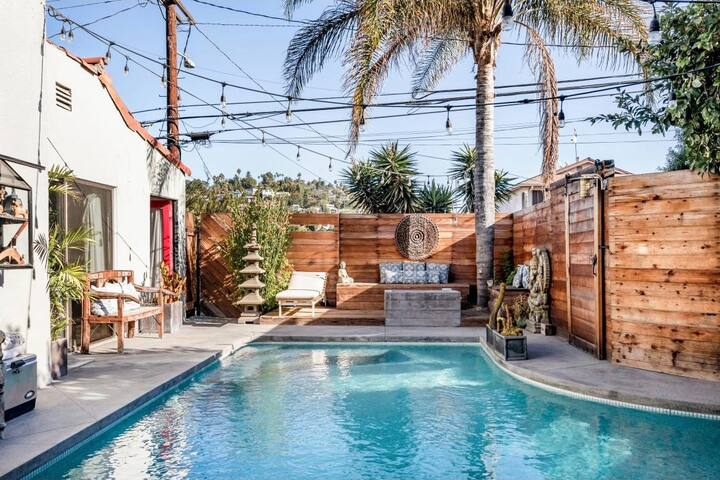 Chic Yoga Villa & Saltwater Pool +View Silverlake