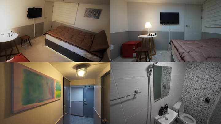 #104 Sinchon Sta 2mins, Hongdae 8mins Blue Mansion
