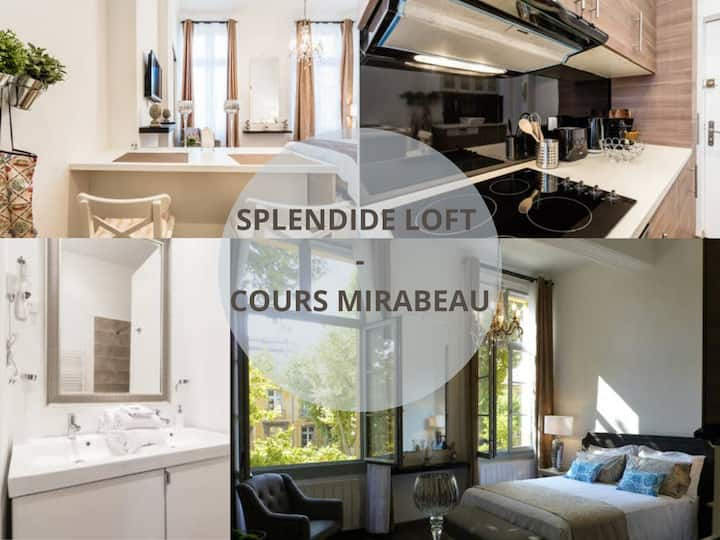 Very nice loft Cours Mirabeau, 2 Pers. WI FI