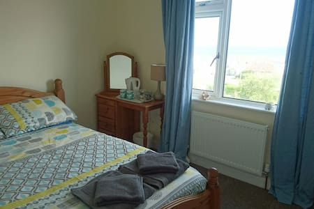 Double Room with a View close to Beach & Village