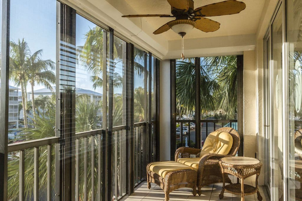 Imagine the lush, tropical afternoons spent relaxing on your private, screened lanai....
