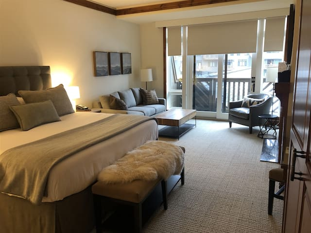 #377 Lodge At Spruce Peak | Newly Remodeled 3rd floor with easy access to the lifts ski in ski out