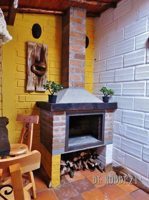 una chimenea hará parte de recuerdos especiales.