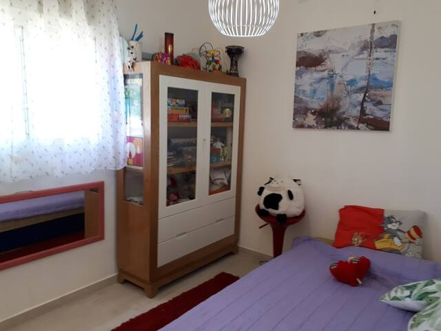 2nd bedroom/ special for the kids (bed &,diaper chest, indoor toys)
