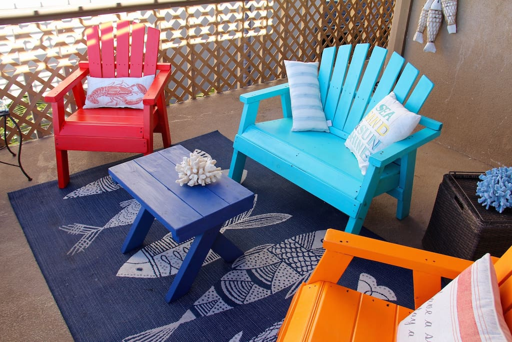 Enjoy the Patio Deck with Ocean View.