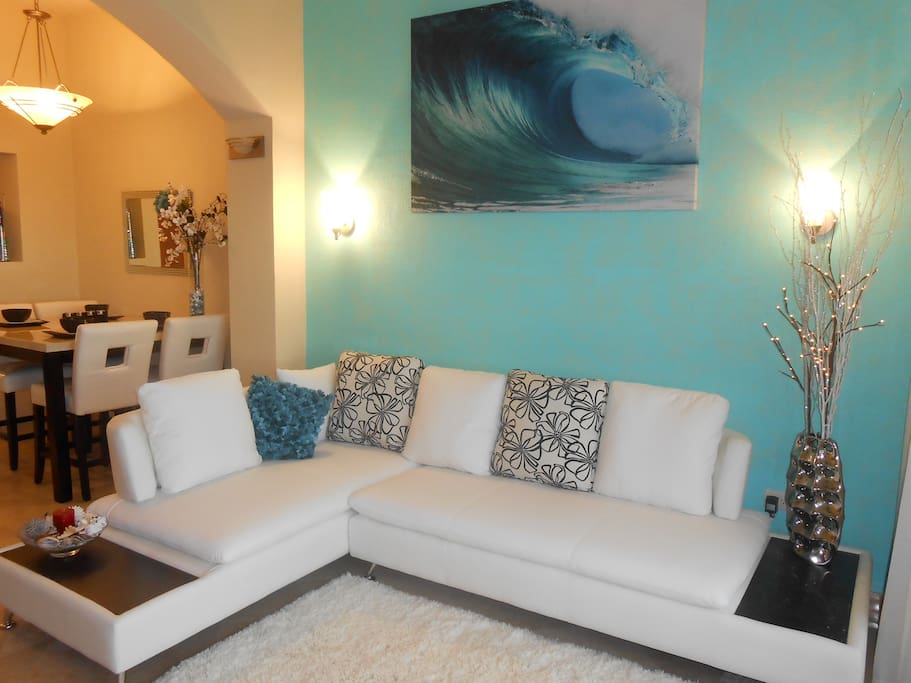 Living Area with Sectionsl Couch