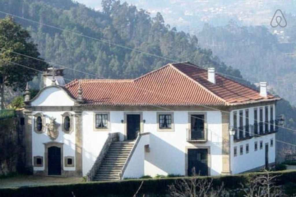 Vista Geral da Casa da Povoa. General view of Manor House CASA DA POVOA