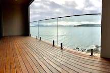 Front deck , overlooking primrose bay and  Frederick Henry Bay