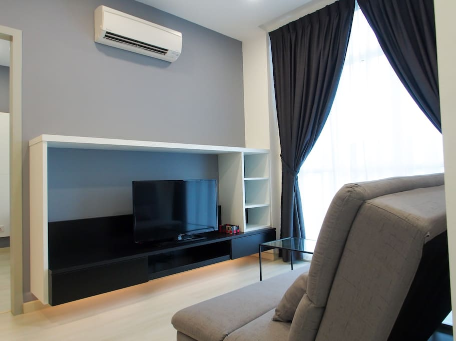 Flat screen TV with fully air con space