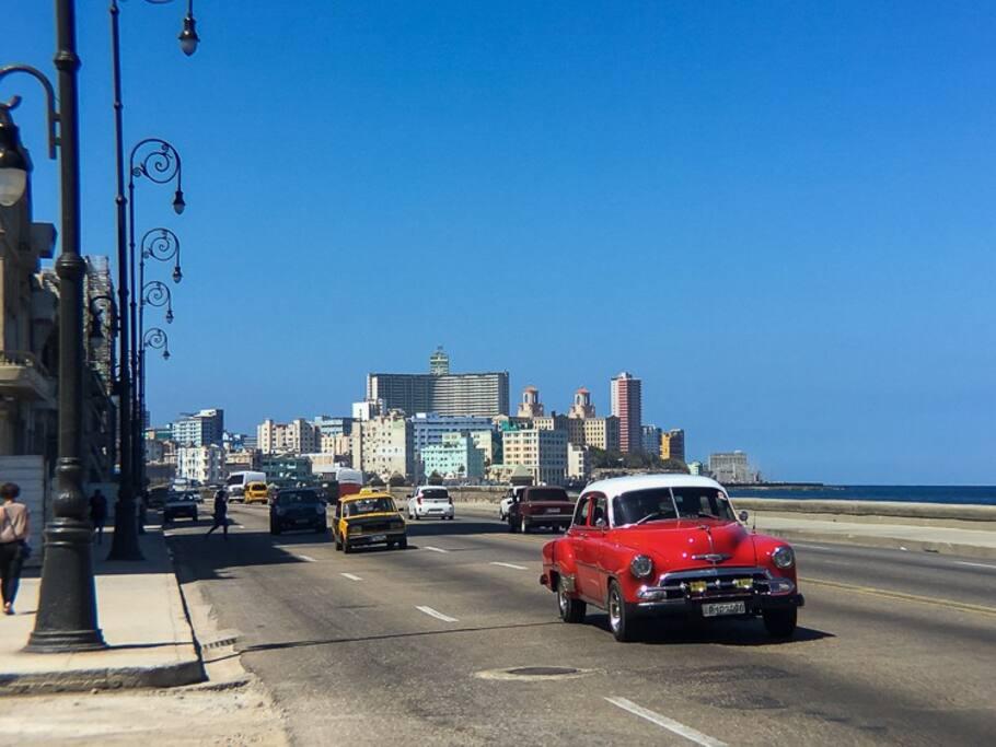 Vista de La Habana desde el tunel.