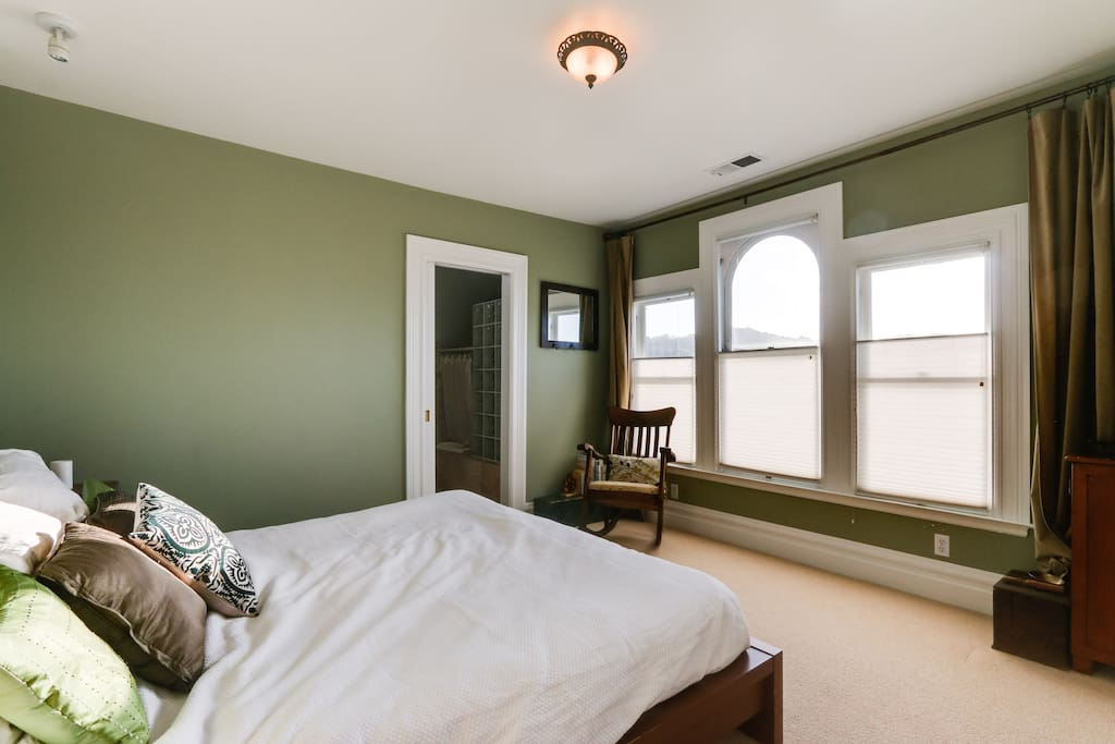 Master Bedroom with great views of Twin Peaks