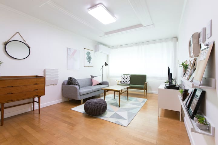 B&R HOUSE #1/ HongDae/ 3Bedrooms/ 66 Square meters - Mapo-gu - Lägenhet