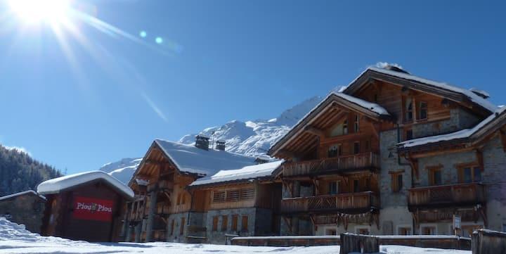 Montagnard, luxury apartment, ski-in ski-out