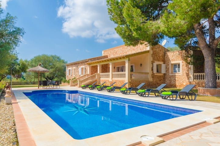 SA MARINA (ANTENA) - Villa with private pool in Cales De Mallorca. Free WiFi
