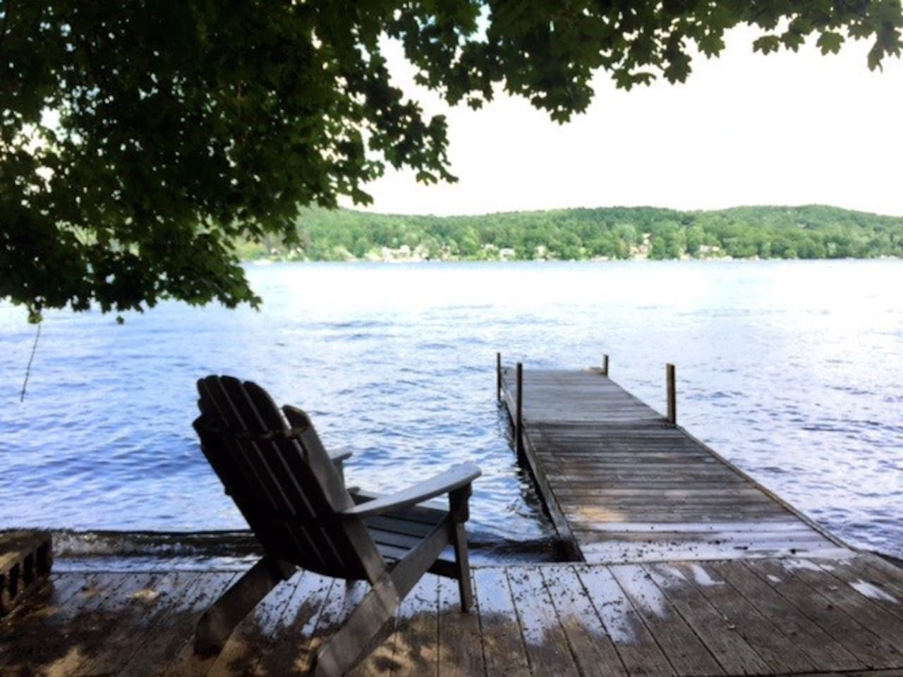 Private dock in summer
