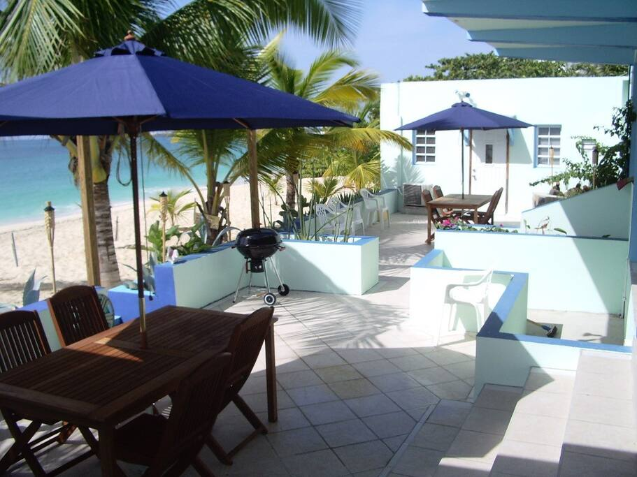Beach Patio, one is private the other is for guests