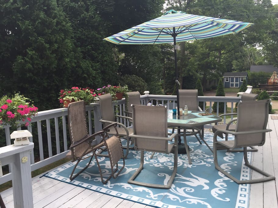 Lovely deck to enjoy your complementary breakfast