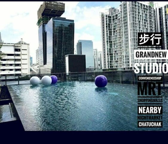 Oasis Studio 5 mins walk to Phra Ram9 MRT - Bangkok - Condominium