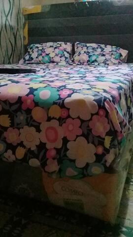 Comfortable interspring matress for beautiful and restful night sleep.