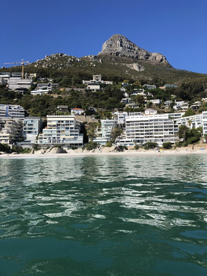 View of Clifton from our boat.