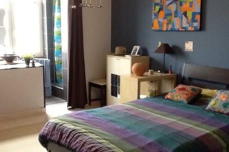 Spacious bedroom w/ ensuite shower
